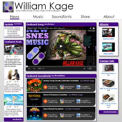 William Kage | SNES Soundfonts | Official Website